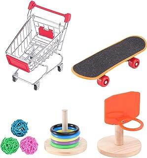 Balacoo Pomoc dla zwierząt domowych, mini kosz do koszykówki na zakupy, zabawna papuga inteligencja trening zabawka do pap...