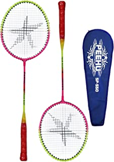 Star X PEEHU Steel Badminton Racquet, Adult G4 Set of 2