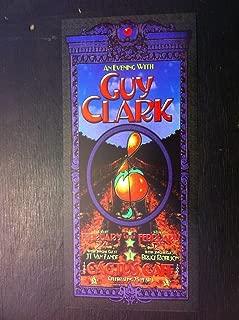 Guy Clark Van Zandt Original Ltd Ed Cactus Cafe Austin Texas Concert Gig Poster