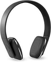Innovative Technology Rechargeable Wireless Bluetooth Modern Headphones with Rubberized Finish, Black