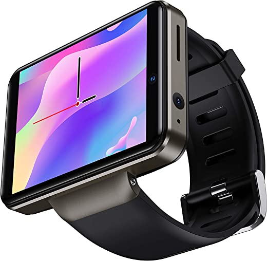 DM101 4G Smart Watch for Men 2.41″ Display Android 7.1 3GB RAM 32GB ROM 2080mAh Watch Phone with Face ID Dual Camera Bluetooth GPS IP67 Waterproof…