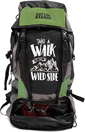 Mufubu Presents Get Unbarred 55 LTR Rucksack for Trekking, Hiking with Shoe Compartment