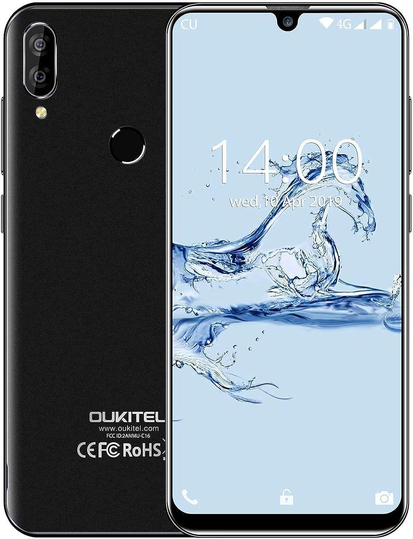 Smartphone Libre Barato,OUKITEL C16 Pro 4G Dual SIM Android 9.0 Móviles y Smartphones Libres,5,71 Pulgadas Teléfons Movies Baratos,3300mAh Batería 32GB ROM Dual Cámaras Smartphone, Negro