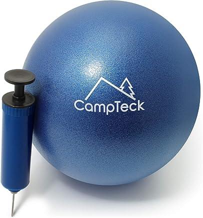 CampTeck U6812 Yoga Pilates Ball PVC Anti Burst 23cm Pilates Ball for Exercise, Gym, Fitness, Core Training etc with Hand Pump – Blue