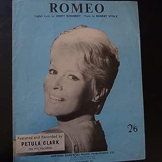 song sheet ROMEO Petula Clark 1961