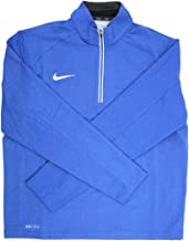 Hireko Dri-Fit Men's Blue/White 1/4 Zip Pullover Jacket, XX-Large