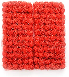 roses flower heads red Artificial Rose Flowers DIY 144 PCS Head Rose Flowers Wedding Bride Bouquet PE Foam DIY Party Festival Home Decor Rose Flowers (red)