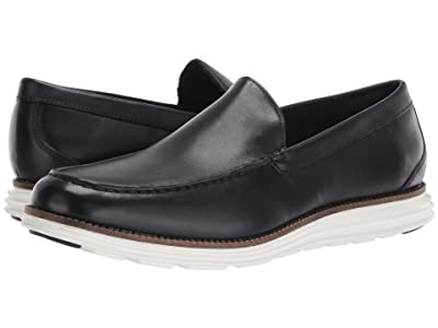 Cole Haan Original Grand Venetian (Black Leather/Optic White) Men