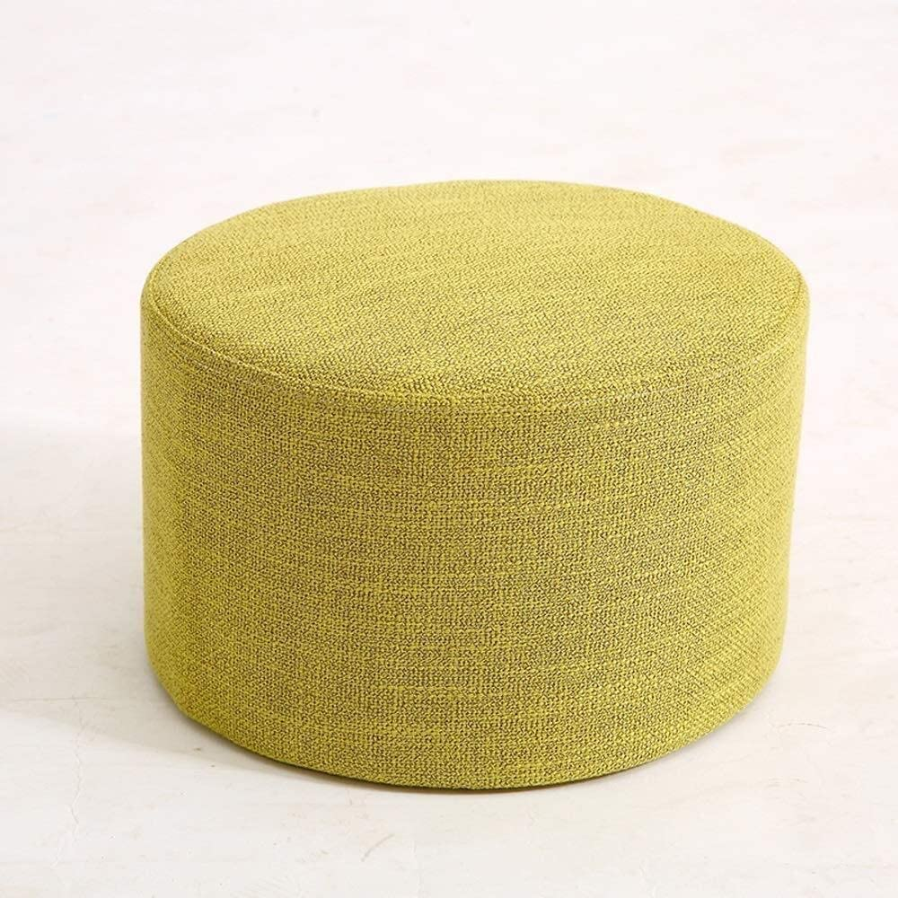 HTDZDX Over item handling ☆ Round Atlanta Mall Lazy Soft Upholstered Seat Footstool Solid Ottomans