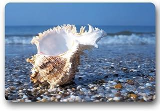 Olas del mar azul de goma Felpudo para interior, cocina, cuarto de baño, sala de estar antideslizante alfombra Felpudo por...