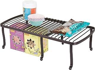 mDesign étagère pour assiettes – étagère de cuisine pour le plan de travail, le buffet de cuisine et le placard – rangemen...