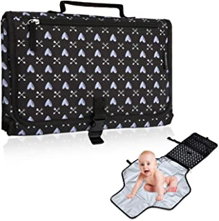 Portable Diaper Changing Pad Built-in Pillow Travel Waterproof Portable Changing Pad for Baby
