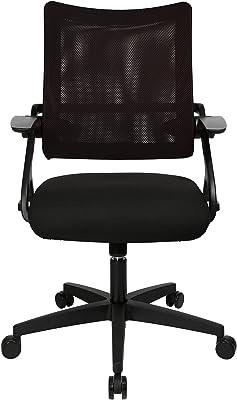 Topstar New S'move Black-Edition - Sedia girevole da ufficio, Poliestere, nero-nero, 57 x 66 x 114 cm