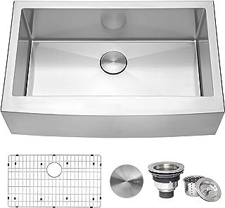 Ruvati 33-inch Farmhouse Apron-Front Kitchen Sink Stainless Steel Single Bowl - RVH9233