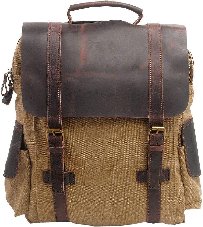Lounayy Women Men's Kids Backpack Bag Travel School Bag School Backpack Canvas Backpack Sport Fashion Kids Backpack Modern Small Easy City Backpack (color   Khaki, Size   One Size)