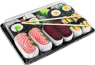 Rainbow Socks, Mujer Hombre Calcetines Sushi Salmón Tamago Atún 2x Maki - 5 Pares