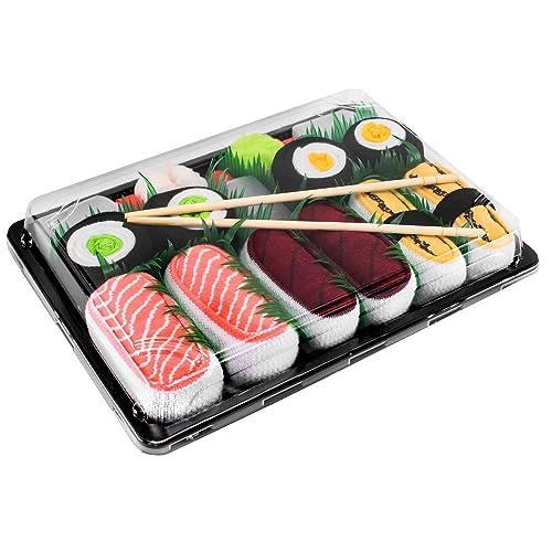 Sushi Socks Box - 5 pares de CALCETINES: Salmón, Tamago, Atún, Maki