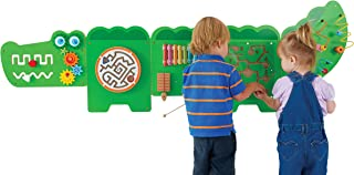 Learning Advantage Crocodile Activity Wall Panels - Toddler Activity Center - Wall-Mounted Toy for Kids Aged 18M+ - Kids Decor for Play Areas
