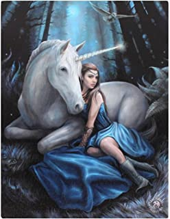 Small Blue Moon Canvas Picture By Anne Stokes