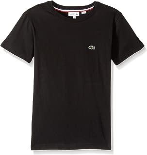 Lacoste Boys' Big Crew Neck Cotton Jersey T-Shirt, Black, 8Y