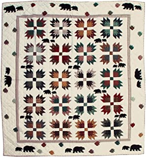 Patch Magic Twin Bear's Paw Quilt, 65-Inch by 85-Inch