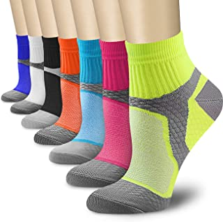 CHARMKING Compression Socks Women & Men 7 Pairs 15-20 mmHg is Best Graduated Athletic for Running, Flight Travel, Pregnant...