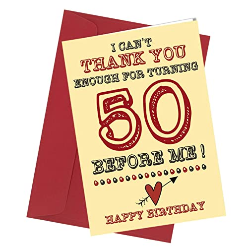 282 BIRTHDAY GREETING CARD 50th Birthday Card Comedy Rude Funny Humour