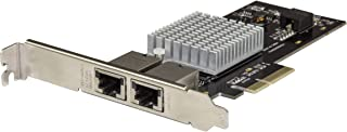 StarTech.com Dual Port Network Card - PCIe 10G / NBASE-T - 5 Speed NIC Card - Intel X550-10 Gigabit Ethernet Card - PCIe Network Card (ST10GPEXNDPI)