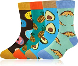 Boy's Novelty Funny Cotton Crew Socks Crazy Space Food Shark Halloween Design