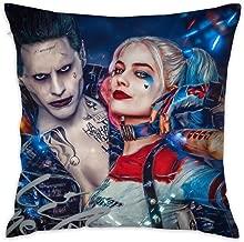 HCZHUCK Decorative Har-Ley Qu-inn Team Throw Pillow Multicolored Square Cushion Pillow & Pillowcase Cover 18