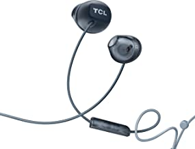 TCL Socl200 in-Ear Earbuds Wired Headphones with 12.2mm Speaker Drivers for Rich Bass and Clear Sound, Built-in Mic - Phantom Black