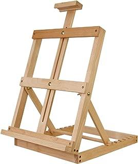 U.S. Art Supply Heavy Duty Adjustable Tabletop Studio H-Frame Artist Painting Easel