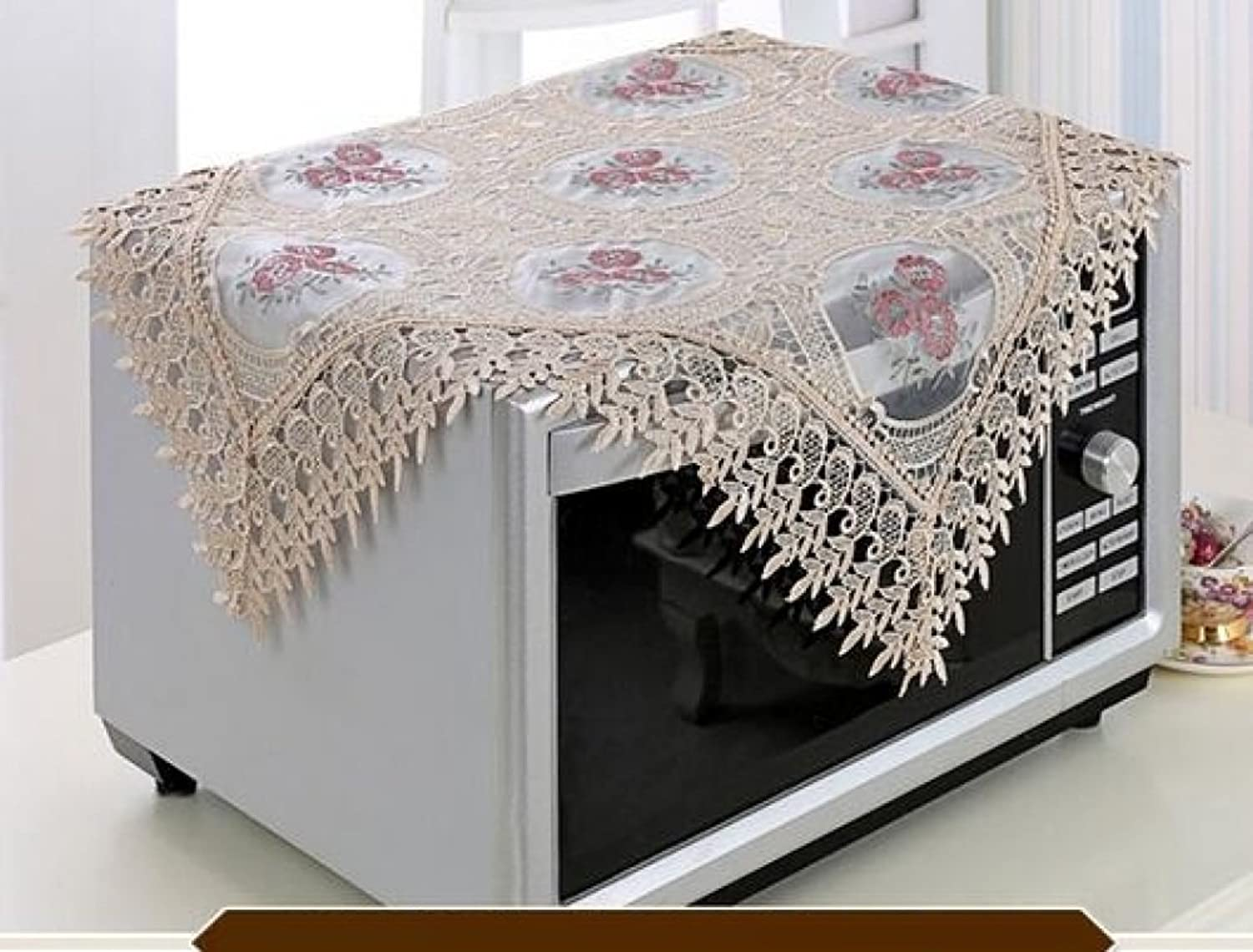 ZXY tablecloth European Lace Table flag Cover cloth embroidery waterproof oilproof dustproof table cloth Home Decoration,F,75220cm