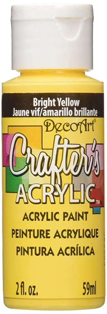 DecoArt DCA49-3 Crafter's Acrylic Paint, 2-Ounce, Bright Yellow