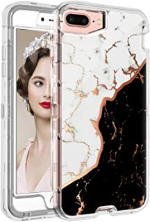iPhone 8 Plus Case Marble White, iPhone 7 Plus Case Marble Black,iPhone 6S Plus Case for Girls,iPhone 6 Plus Case for Men,iPhone 8 Plus Case Clear with Design Case for Apple iPhone 8 7 6S 6 Plus 5.5""