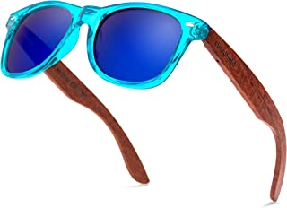 Sponsored Ad - Wood Sunglasses Polarized for Men and Women - Bamboo Wooden Sunglasses Sunnies - Fishing Driving Golf