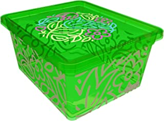 QUTU Light Box Storage Box, Green, H12 x W22.6 x D8.8 cm