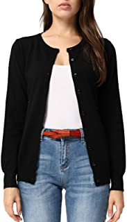 Women's Long Sleeve Button Down Crew Neck Classic Sweater...