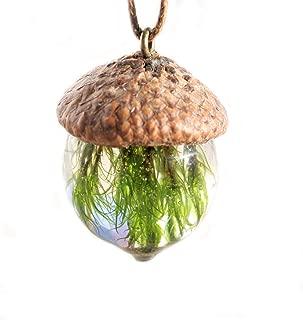 wood resin necklace for men