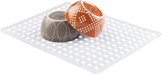 iDesign Euro Plastic Sink Grid, Non-Skid Dish Protector Mat for Kitchen, Bathroom, Basement, Garage, 16