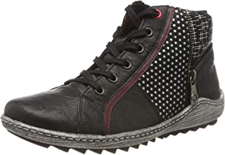 Women Ankle Boots Black, (Schwarz/Burgund/schw) R1494-02