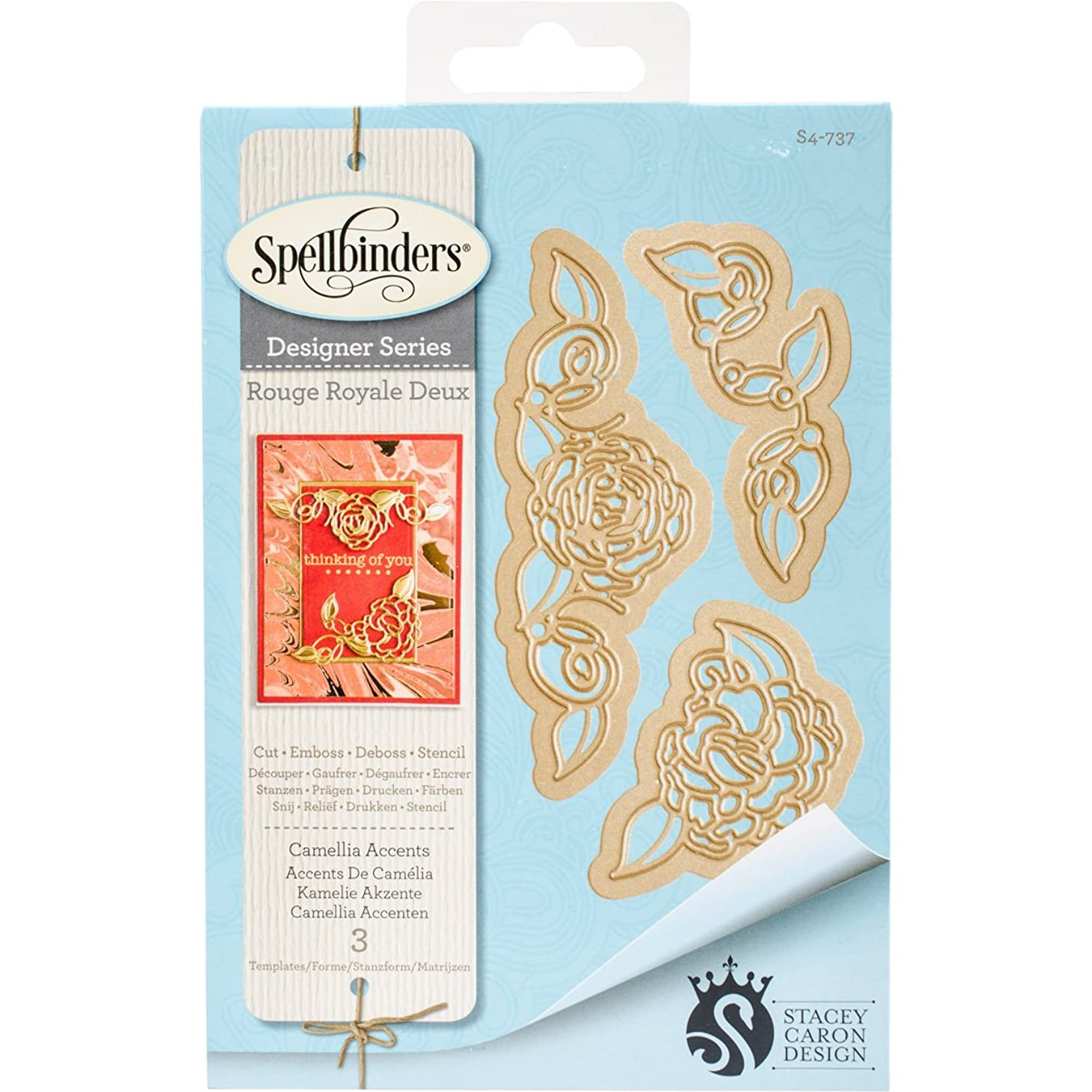 Spellbinders Camellia Accents Etched/Wafer Thin Dies