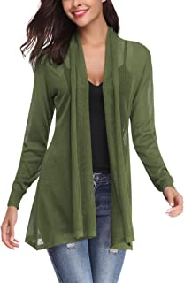 Abollria Womens Casual Long Sleeve Open Front Cardigan...