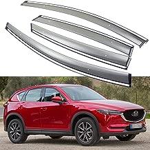 SPEEDLONG 4Pcs Car Window Visor Vent Shade Deflector Sun/Rain Guard for Mazda CX-5 2017 2018 2019