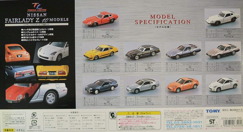gran descuento Tomica Tomica Tomica Fairlady Z 10MODELS (japonesas Importaciones)  nueva gama alta exclusiva