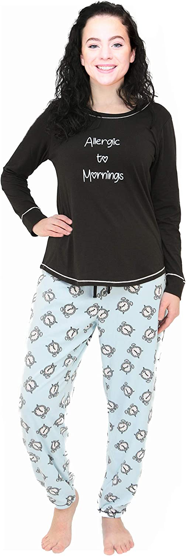 Al & Ema Women's Winter Fleece Lounge Jogger Pajama Set