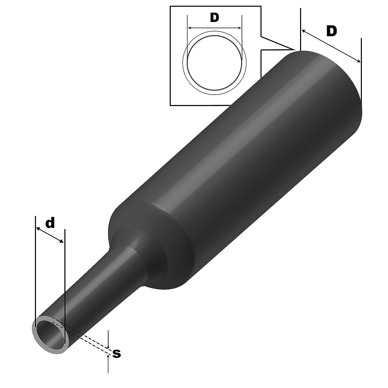 Tubo termoretraibile 3:1 trasparente selezione tra 9 diametri e 6 lunghezze di ISOLATECH . qui /Ø 3 mm /– 1 metro