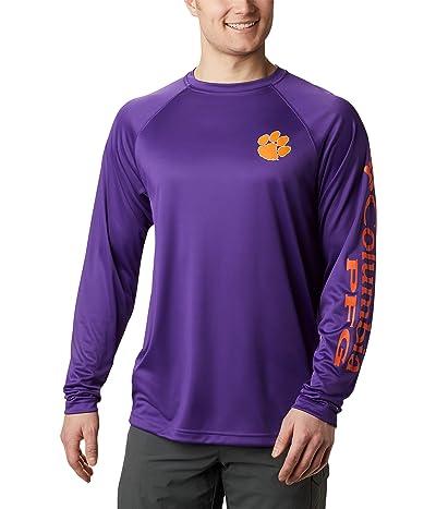 Columbia College Clemson Tigers Terminal Tackle Long Sleeve Shirt (CLE Vivid Purple/Spark Orange) Men