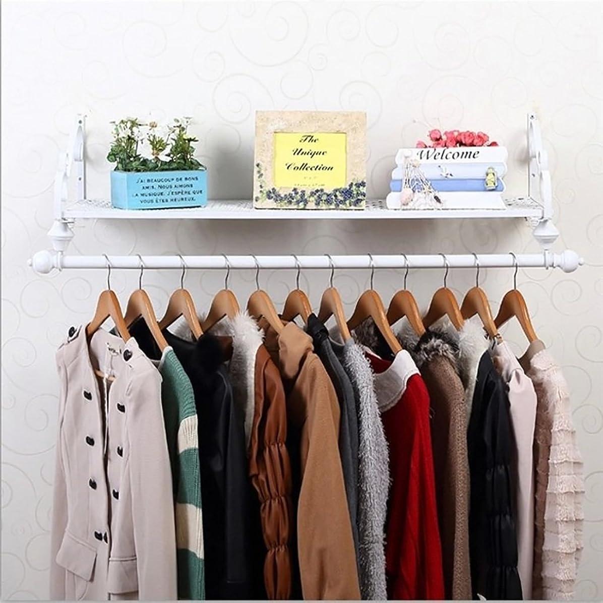 武装解除作成する頂点YSDHE 垂直コートラック 収納棚、白い壁に取り付けられた金属の角の衣類の掛かる棒、衣服の棚が付いているコートの棚の衣類のロッドラック (Size : 60cm)