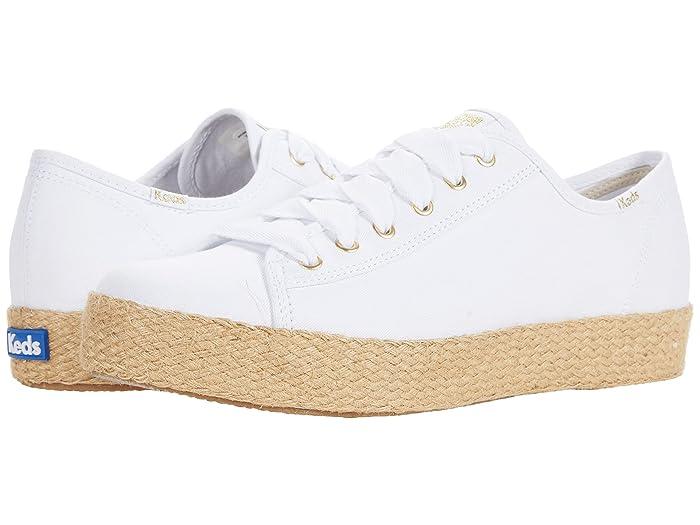 1950s Style Shoes | Heels, Flats, Boots Keds Triple Kick Jute Organic Canvas $64.95 AT vintagedancer.com